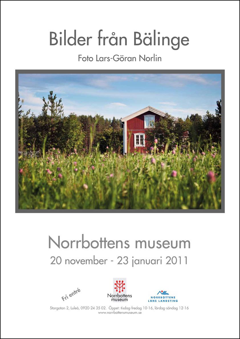 Affisch utsällning Bilder från Bälinge
