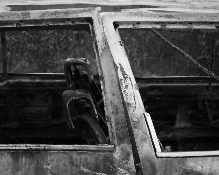 Utbrunnen bil. Foto