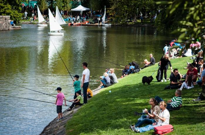 Människor som fiskar i Göteborg